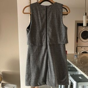 Forever 21 Dresses - Basic double layer gray zip dress